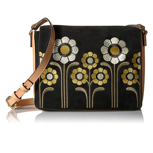 fdecb9649a52 Suede Embroidery Rosemary Shoulder Bag